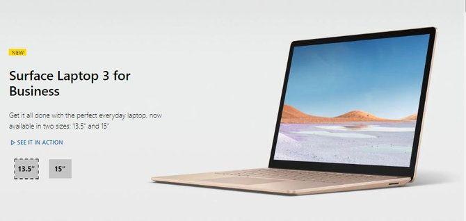 Microsoft Surface Laptop รุ่นที่ 3